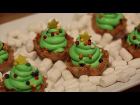 Athens Peppermint Christmas Tree Mini Phyllo Shells Recipe