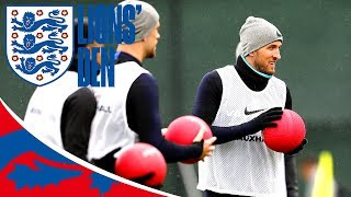 England v Sweden: Players Focused Yet Relaxed in Training | Lions' Den Twenty Five | World Cup 2018