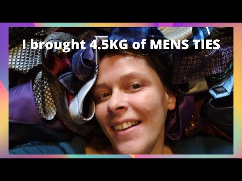 I Brought 4.5KG Of MENS NECK TIES To RESELL On EBAY Clothing Haul UK RESLLER