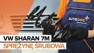 Montaż Sprężyna amortyzatora tył i przód VW SHARAN: instrukcje wideo