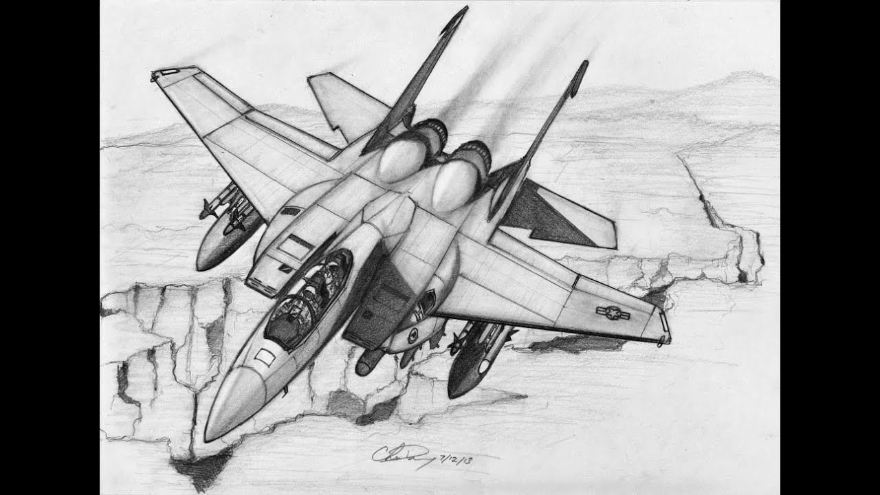 How To Draw A F-15 Strike Eagle