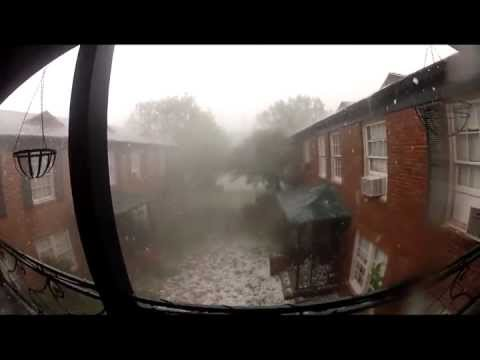 Severe Weather - INSANE Apocolyptic hail storm disaster!!! - Lakewood Dallas, TX June 13, 2012