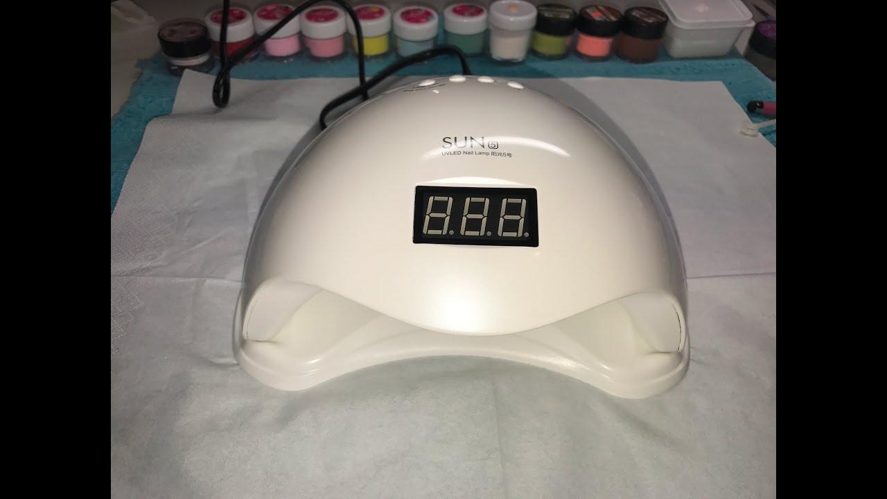 Sun5 UV/Led Lamp Review-Low Heat Mode---* Cures uv gel in 30 Sec ...