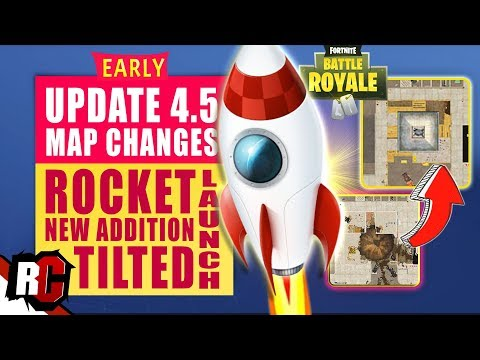 Fortnite | Update 4.5 Map Changes | ROCKET Starting + New Tilted Towers Building (Week 8 Update)