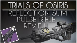 Destiny - Reflection Sum (Adept) Pulse Rifle Review. Best Pulse Rifle in PvP? Maybe...(Comparisons)