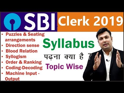 SBI CLERK 2019 Syllabus-Subject Wise & Topic Wise Details...Must Watch