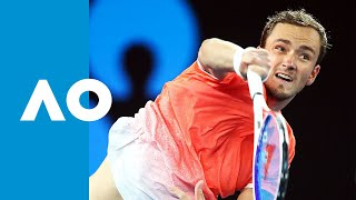 Novak Djokovic vs Daniil Medvedev second set tiebreak