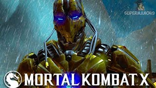 "100% DAMAGE & DOUBLE FLAWLESS VICTORY WITH CYRAX! - Mortal Kombat X: ""Cyrax"" Gameplay"