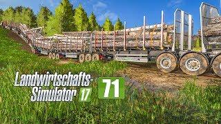 LS17 Forst #71 - Krise im XXL-Forstprojekt mit 9 Anhängern! I LANDWIRTSCHAFTS-SIMULATOR 17