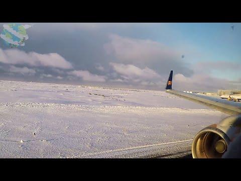 Roaring Engines in Record Snowfall: Icelandair Boeing 757-200 Takeoff from Keflavik/Reykjavik