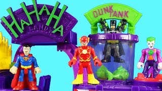 Imaginext The Joker Laff Factory ! Batman Goes In Dunk Tank ! Superhero Toys