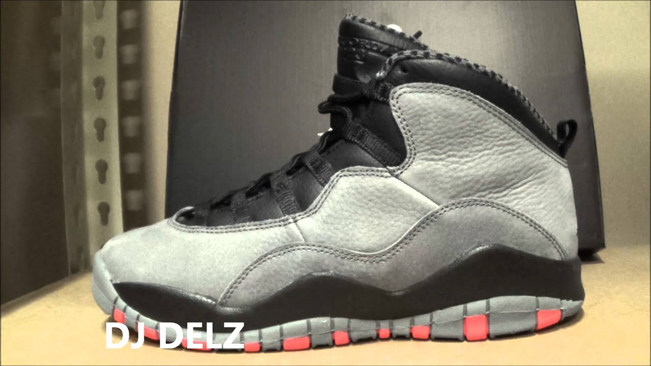 2014 Air Jordan 10 Cool Grey Infrared X Sneaker Review With @DjDelz Dj Delz  - YouTube
