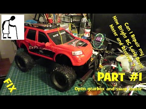 Repair my New Bright RC Land Rover - Motor and Receiver PART #1
