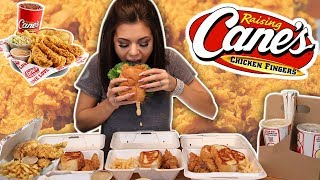THE BEST CHICKEN EVER! Raising Canes MUKBANG! (Eating Show)