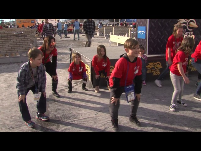 "Kids' compete for cash in ""Dance Off"" at the 2017 SPEC MIX BRICKLAYER 500® World Championship"