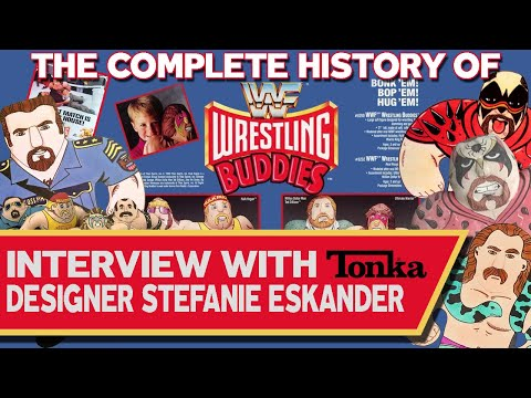 Complete History Of WWF Wrestling Buddies! Interview With Tonka Toy Designer Stefanie Eskander!
