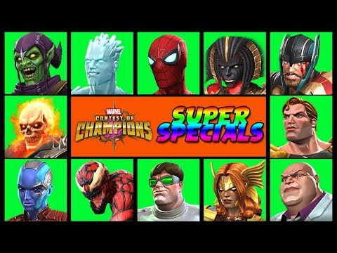 Marvel Contest Of Champions: All Character Specials Pt.4