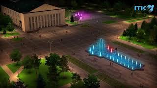 Проект фонтанов на центральной площади Талдыкоргана