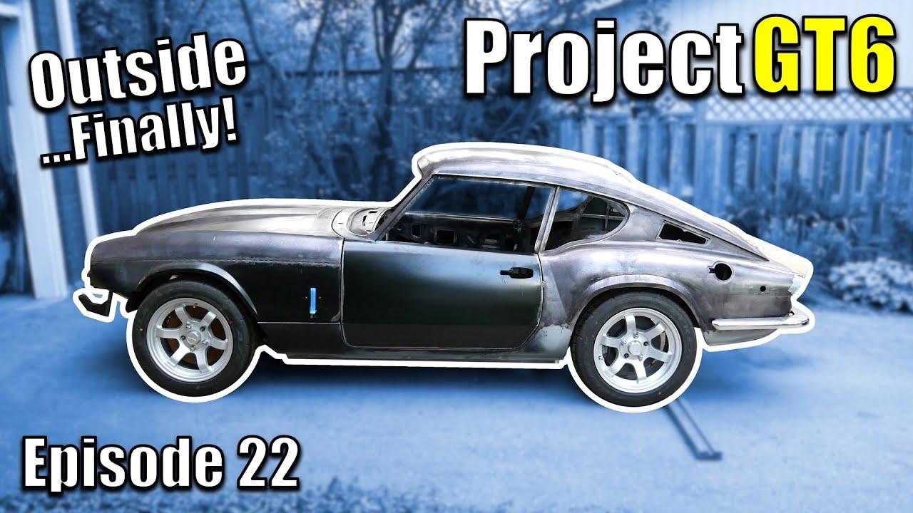 Outside! Cheapest Aluminum LS Powered Triumph Restomod - Project GT6 - Ep22 - Fanatik Builds