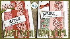 [Tutoriel n°30] Carte rapide et facile n°1 - Scrap with Steph