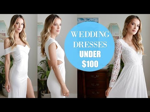 TRYING ON 6 WEDDING DRESSES UNDER $100 | AFFORDABLE AND GORGEOUS?! | LeighAnnSays
