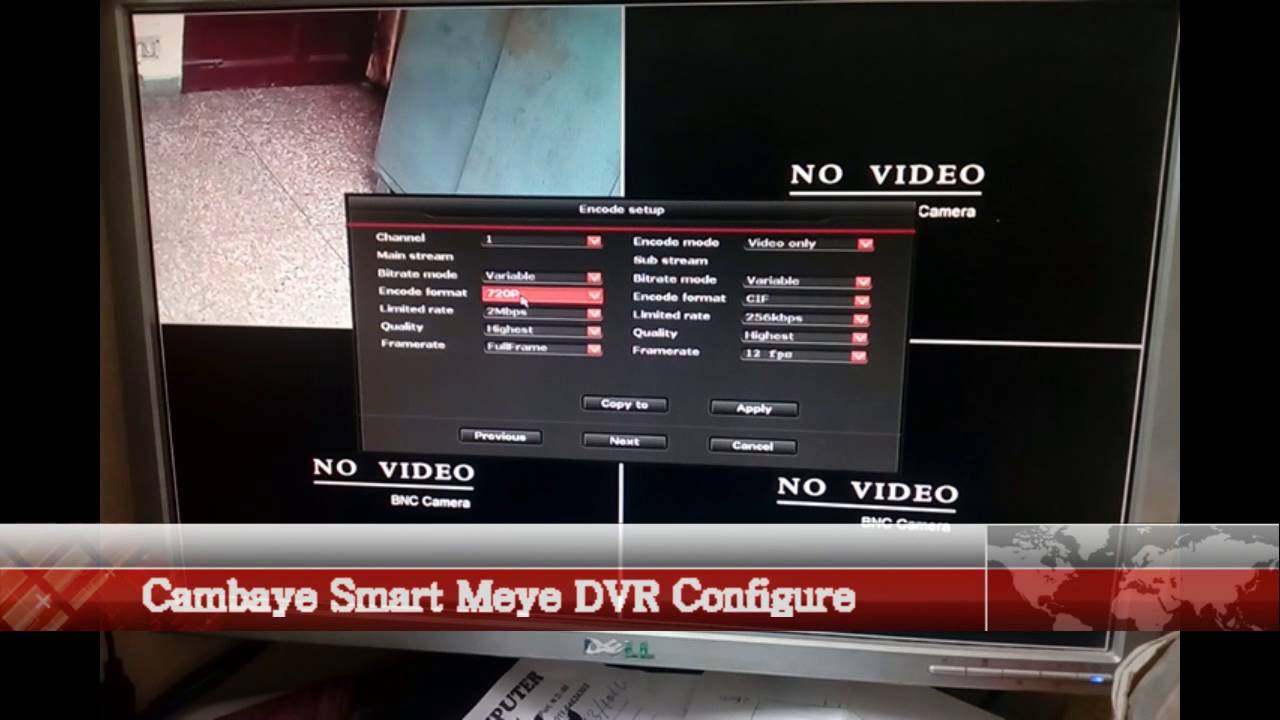 Eseenet DVR Configure for P2P from Cambaye com