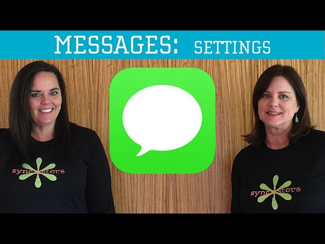 iPhone / iPad Messages - Settings