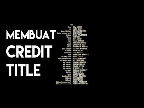 Membuat Credit Title Dengan Adobe Premiere Pro #2