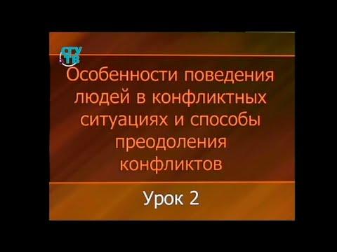 Психология конфликта. Урок 2. Природа конфликтов. Динамика развития конфликтов