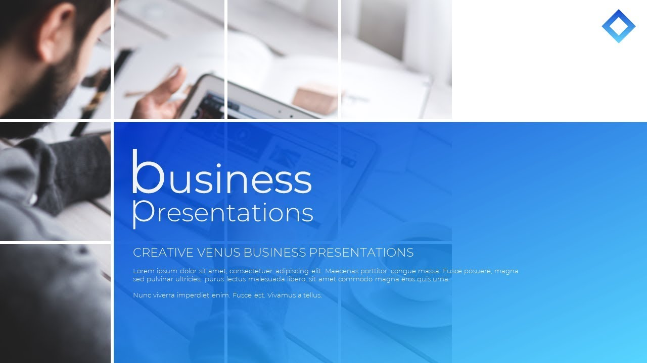 how to design professional title slide for business