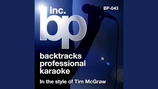 Red Ragtop (Karaoke Instrumental Track) (In the Style of Tim McGraw)