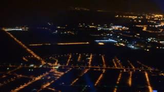 Ночной Санкт-Петербург. Вид с самолета. Night Saint-Petersburg. The view from the plane.