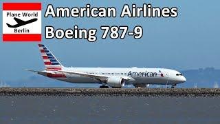 American Airlines Boeing 787-9 Dreamliner takeoff San Francisco Airport