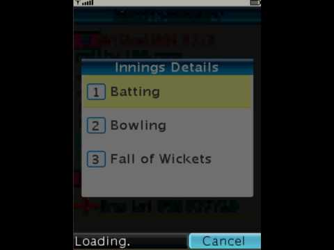 Snaptu Cricinfo Ball by ball commentary release