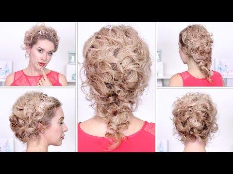 Видео Прическа на свадьбу для гостей на средние волосы своими руками