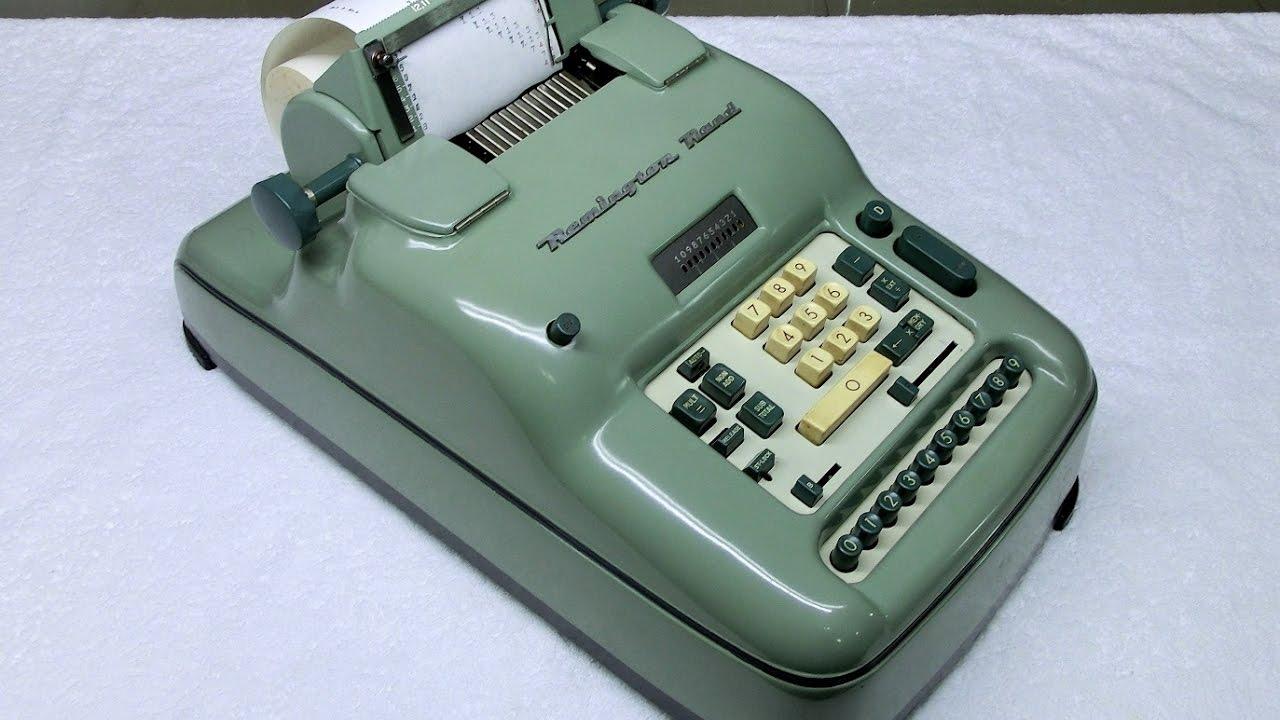 Remington rand vintage calculator manual desk adding machine for.