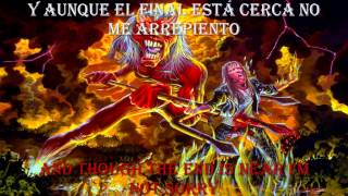 Iron Maiden HALLOWED BE THY NAME (lyrics y subtitulos en español)