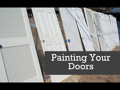 to spray doors painting doors with a paint sprayer spraying interior. Black Bedroom Furniture Sets. Home Design Ideas