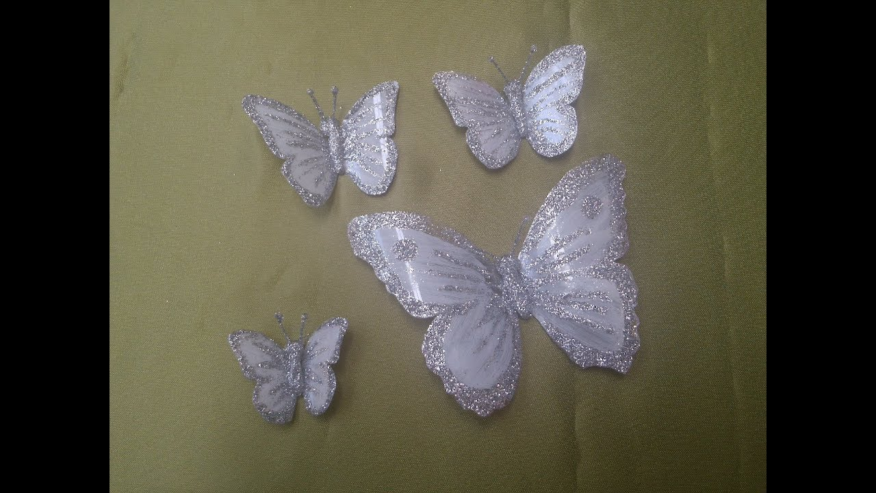 Mariposas Blancas How To Make White Butterflies Youtube