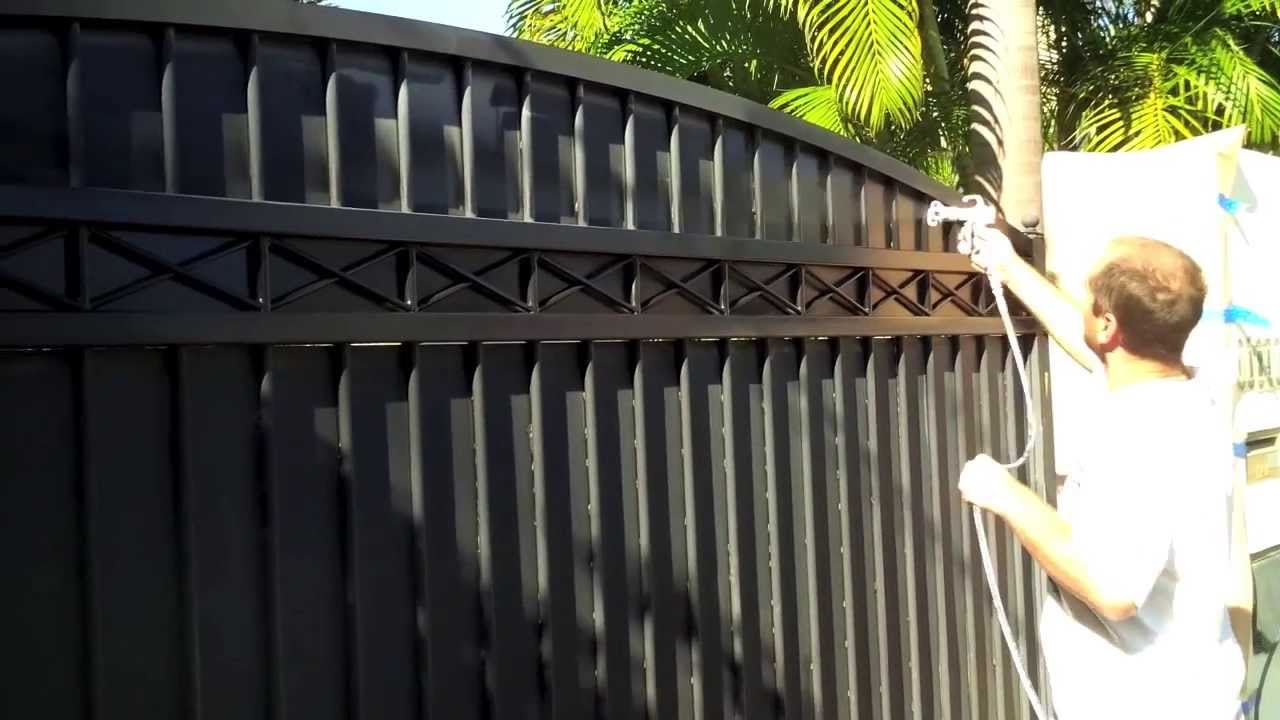 Respray Front Entry Gate Wagner Airless Spray Youtube