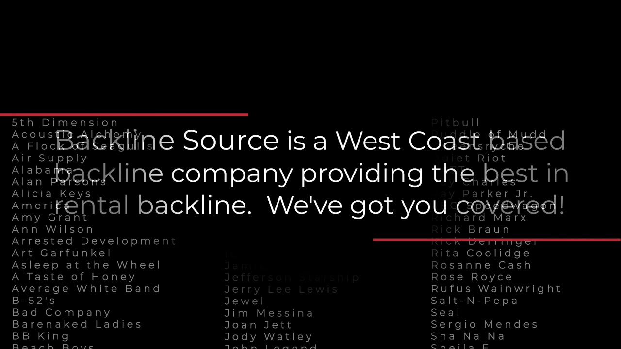 Here's the new promo video for Backline Source Instrument Rentals. Let us know what you think.