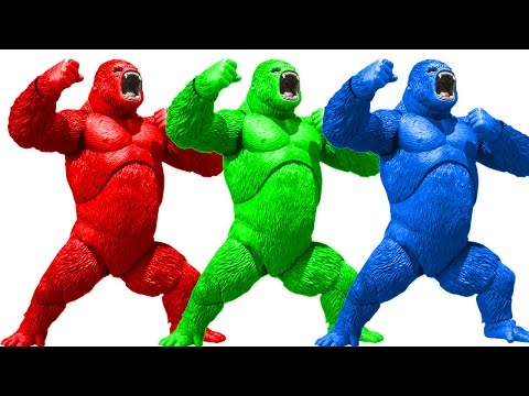 Colors Gorilla Finger family Rhymes | Gorilla Cartoons For Children | Animals Nursery Rhymes Songs