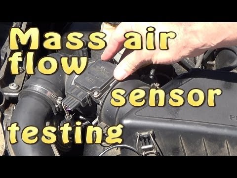 Mass air flow sensor (MAF) testing without dismantling