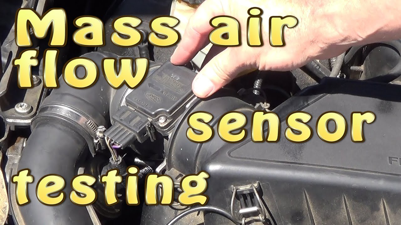mass air flow sensor maf testing out dismantling