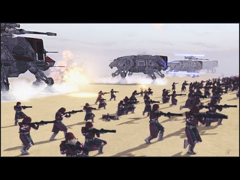 CLONE WALKER SUPPORT – Star Wars: Galaxy at War Mod Gameplay