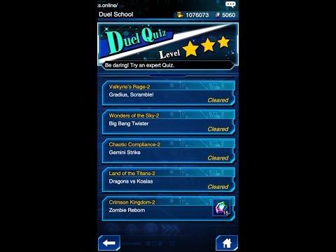 Yugioh Duel Links - Duel Quiz Level 3 : Crimson Kingdom 2