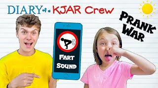 PRANK War With SIBLINGS!! Good Sis vs Bad Bro Challenge!! DIARY of a KJAR Crew!!