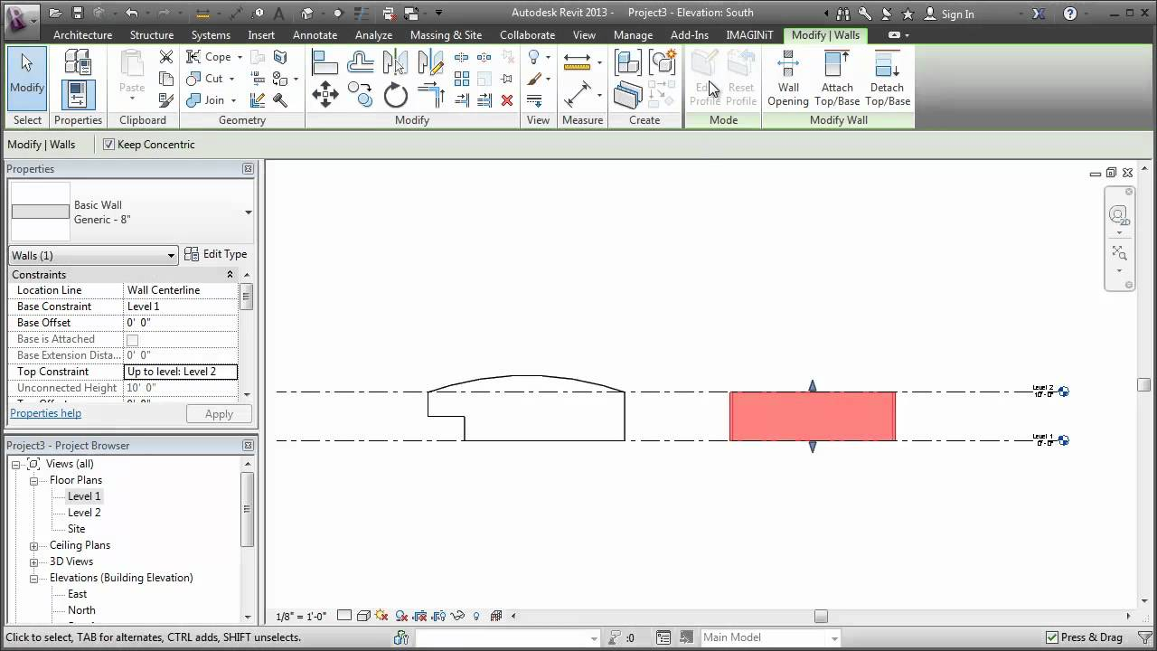 Revit Edit The Profile Of A Curved Wall In Depth Youtube