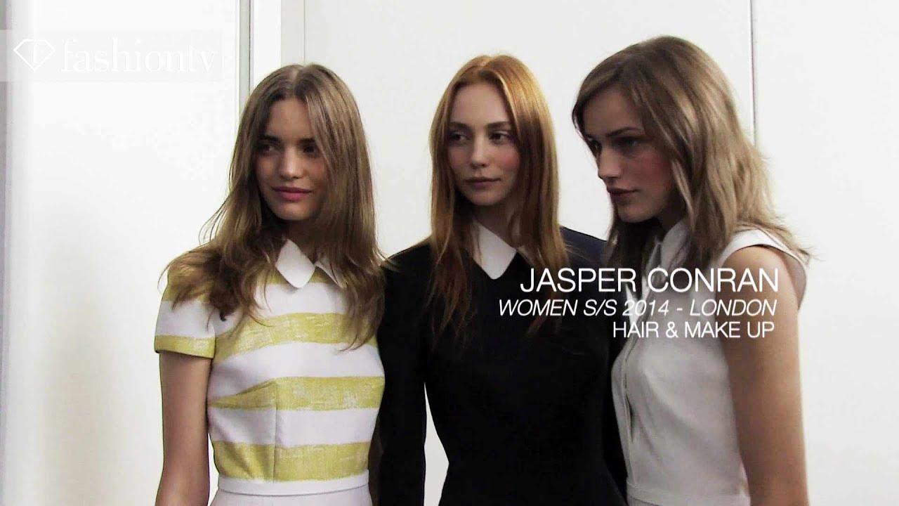 Jasper Conran Spring/Summer 2014 Hair & Makeup Trends | London Fashion Week LFW | FashionTV