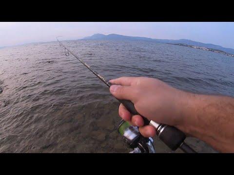 Ένα γρήγορο Lrf. Έξι βολές έξι ψάρια! Ίσως το πιο αποδοτικό ψάρεμα από ακτή...
